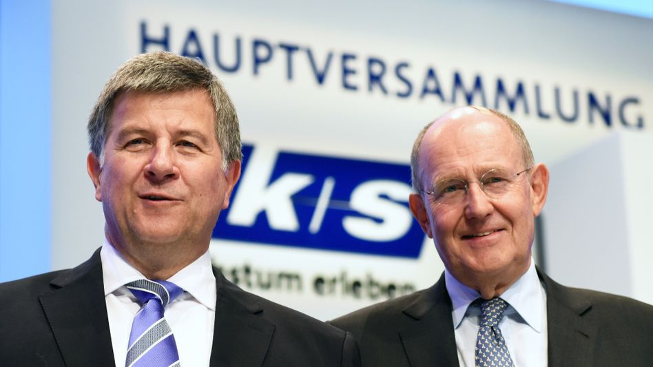 Versammlung vor Gericht: K+S-Chef Norbert Steiner und sein Chefkontrolleur Ralf Bethke