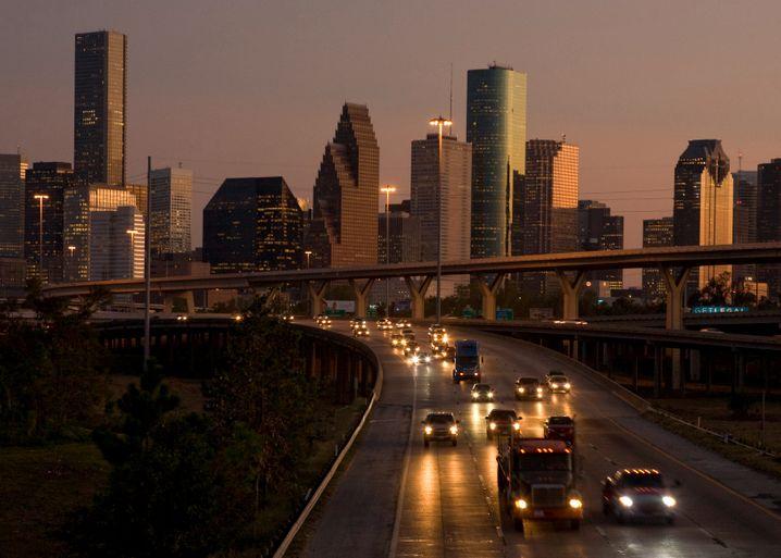 Skyline von Houston: Trotz Ölbooms bleiben die Häuserpreise auf dem Boden