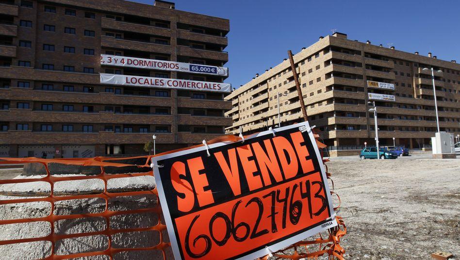Leerstehende Häuser in Madrid: Der Anteil fauler Kredite in Santanders Büchern steigt