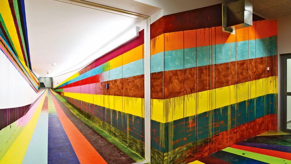 Die Installation DIEDRITTEDIMENSION des Künstlers Markus Linnenbrink in der JVA Düsseldorf-Rath