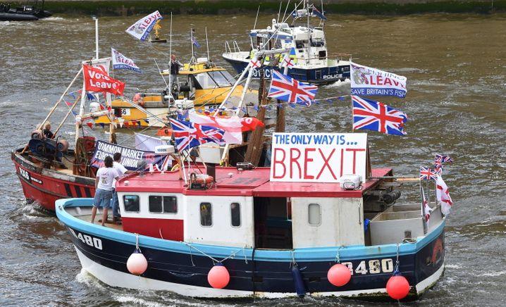 Fischer auf der Themse in London: Die Fischereirechte sind ein wichtiger Streitpunkt in den festgefahrenen Verhandlungen