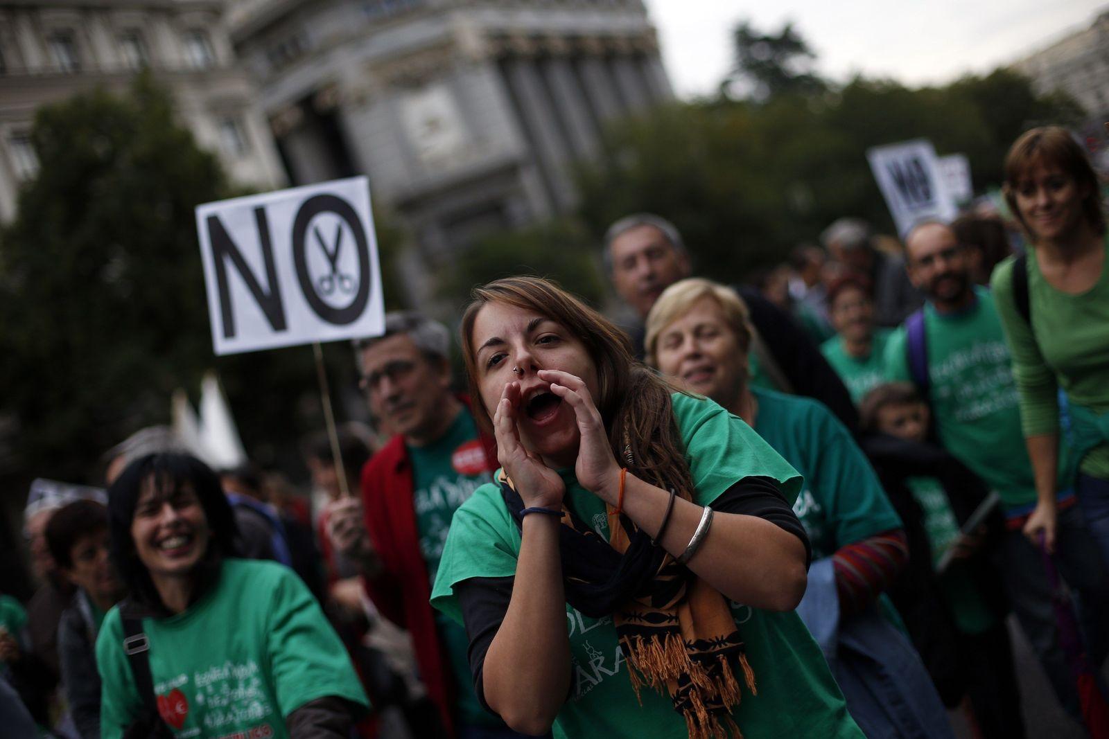 Protest Spanien