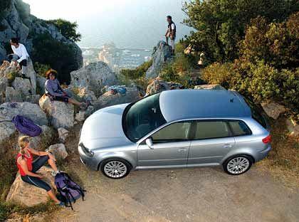 Gut aufgehoben im Gebirge: Der Audi A3 Sportback