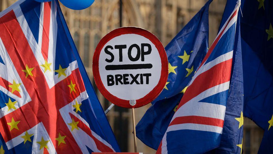 Anti-Brexit-Demonstranten in London: May bleibt stur