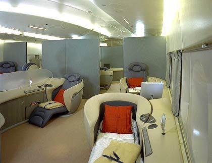 Unter uns: Höherpreisige Sitzgelegenheiten im fliegenden Wohnzimmer
