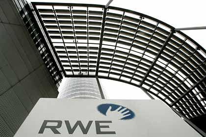 Fünf Finger haben ausgedient: RWE-Logo
