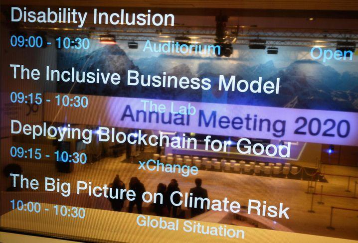 Programmpunkte des Weltwirtschaftsforums in Davos