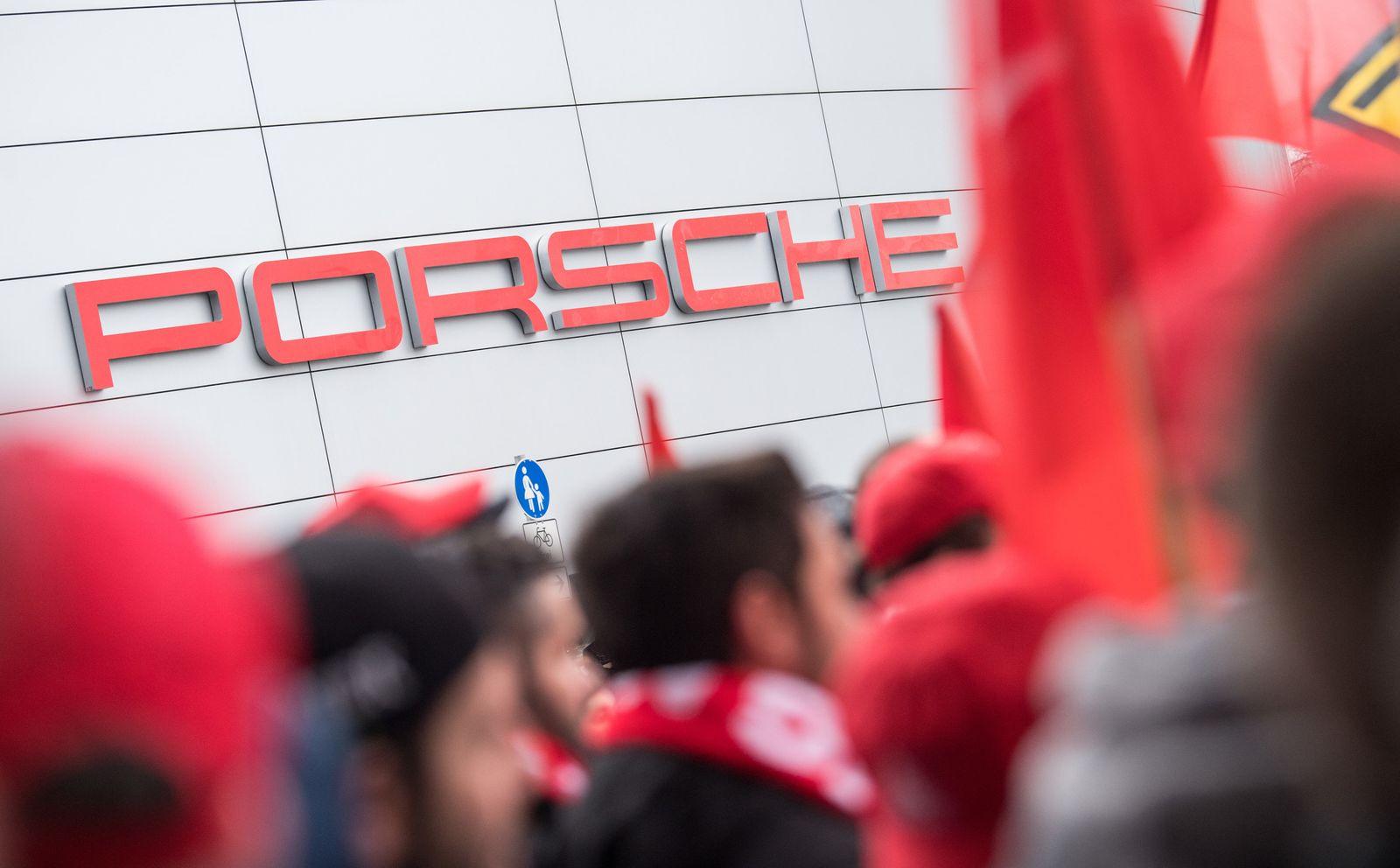 Warnstreik Porsche
