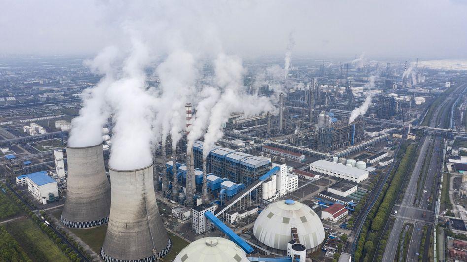Konglomerat, chinesische Version: Fabrikgelände von Sinopec
