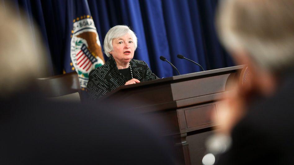 """Fed-Chefin Yellen: Die weltgrößte Volkswirtschaft wächst """"verhalten bis moderat"""""""