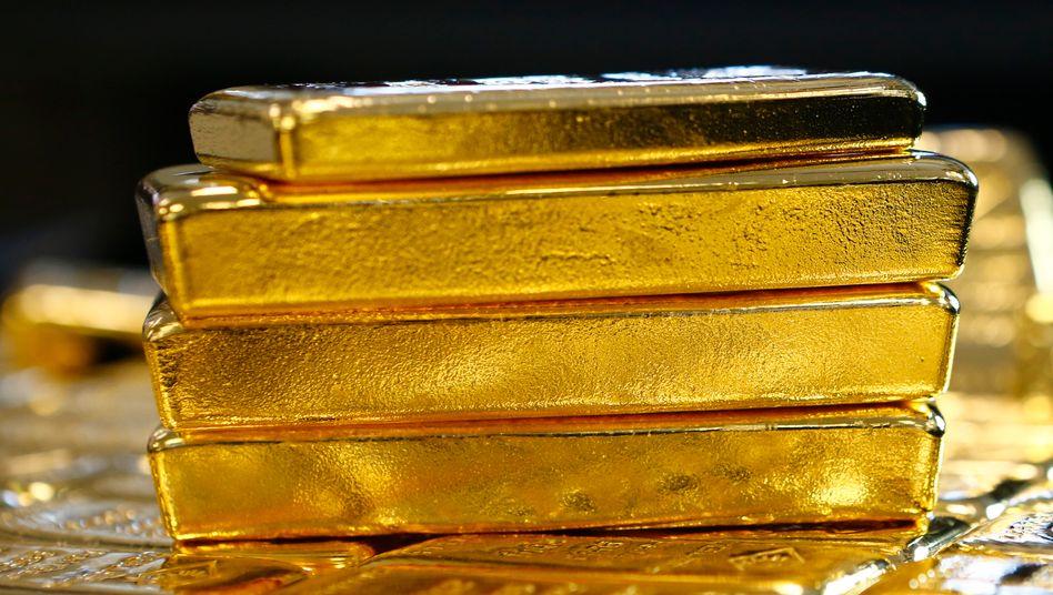 """Goldbarren - was sind sie wert? Mit dem Online-Tool """"Qaurum"""" sollen Anleger der Antwort näher kommen."""