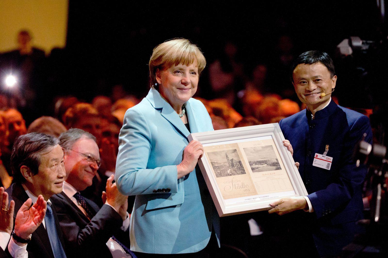 CeBIT 2015 / Merkel / Jack Ma