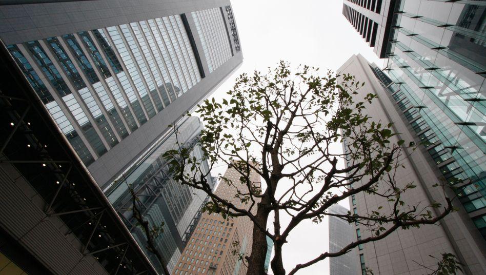 Hochhäuser in Tokios Shiodome-Viertel: Nur 0,8 Prozent der Gewerbeimmobilien in den Ballungsräumen Japans wurden beim Erdbeben beschädigt