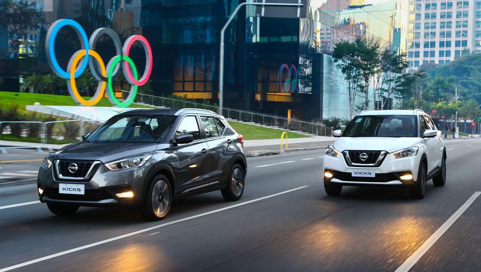 Vorstellung unter Ringen und Palmen: Nissans neu entwickelter Kompakt-SUV Kicks ist bei den Olympischen Spielen omnipräsent