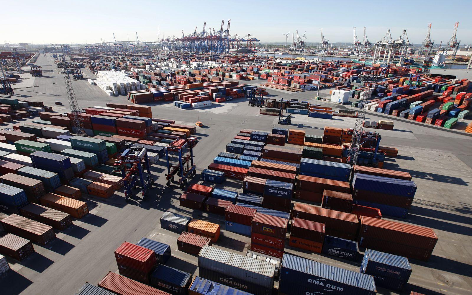 Konjunktur / BIP / Container im Hamburger Hafen