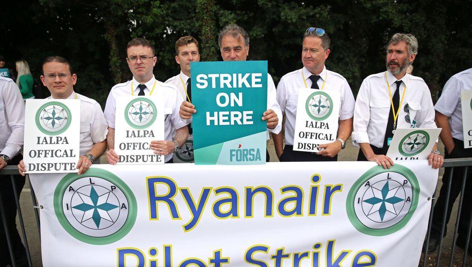 Selbst im Heimatland: Irische Ryanair-Piloten streiken für bessere Sozialstandards und bessere Entlohnung