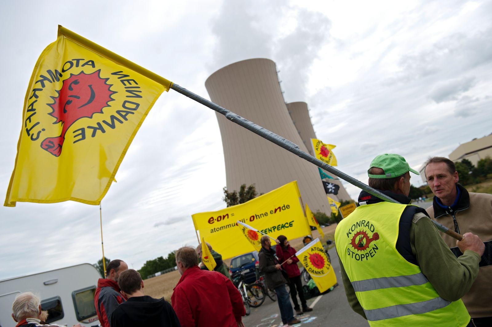 Demonstration gegen Atomtransport
