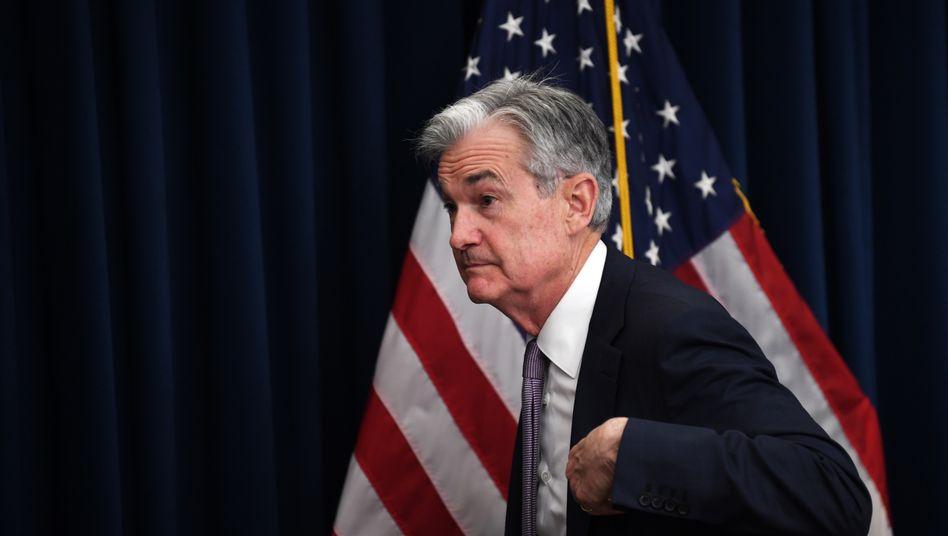 """Fed-Chef Jerome Powell: """"Die Geldpolitik wird die Wirtschaft weiterhin kraftvoll unterstützen"""""""