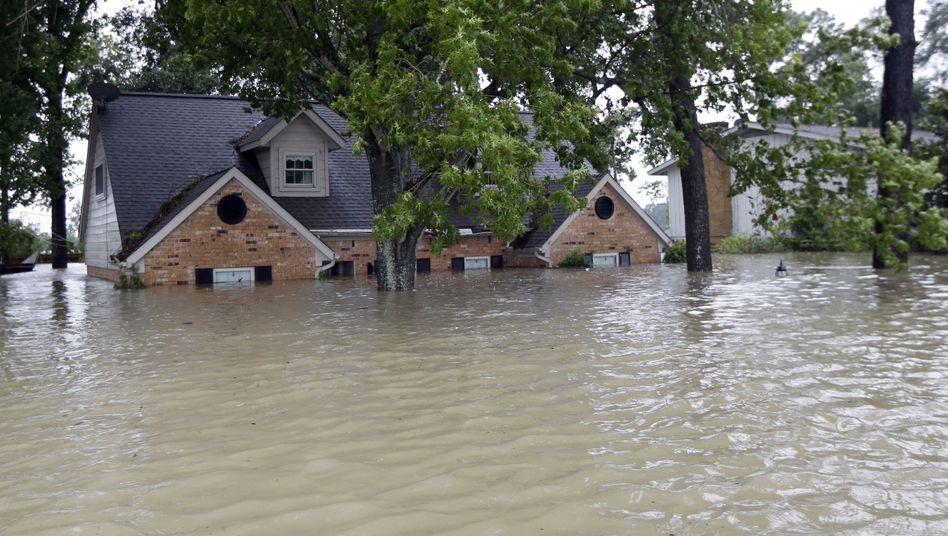 Überflutetes Haus in Spring, Texas: 70 Prozent der Zerstörungen durch Überschwemmungen sind durch keine Versicherung abgedeckt
