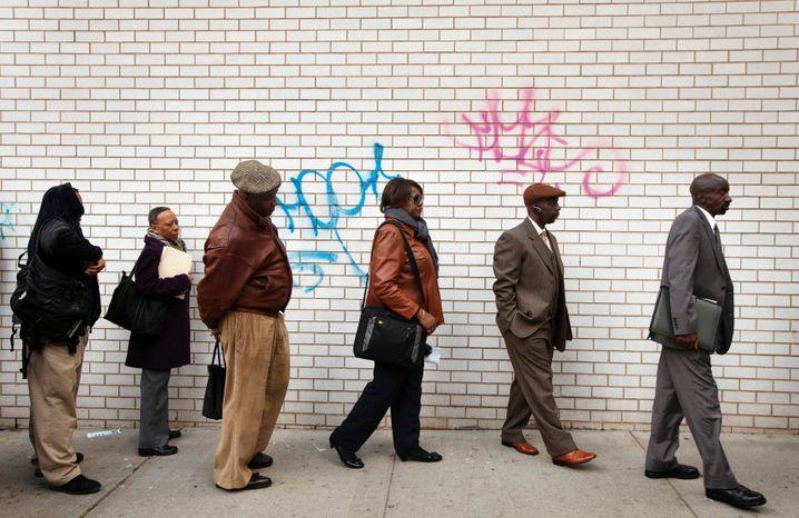 Jobsuchende in New York: 23 Millionen Amerikaner haben keinen Job oder müssen Teilzeit arbeiten