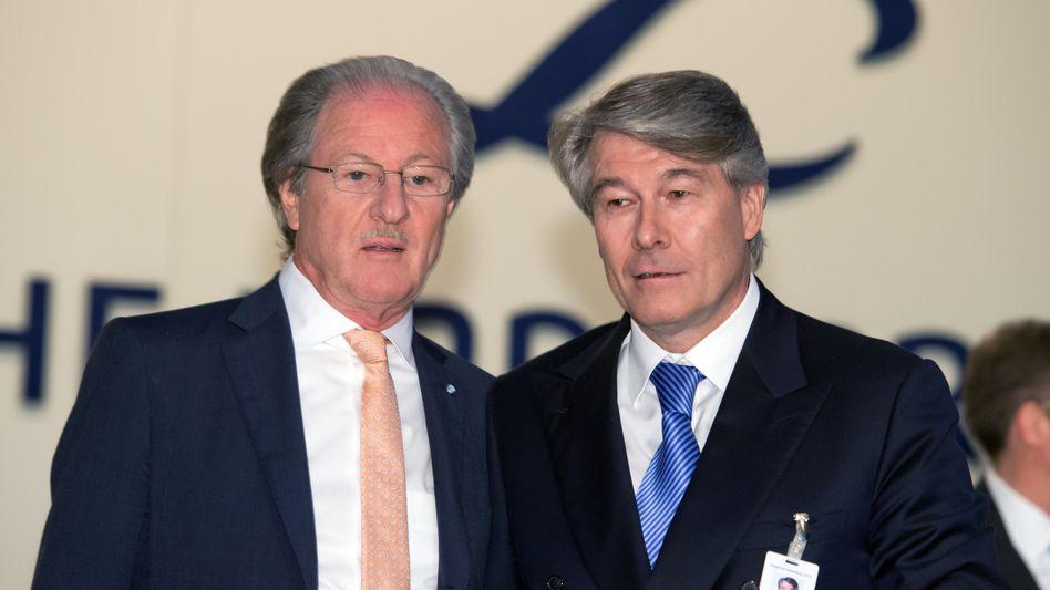 Zwei Anführer: Bücheles Vorgänger Wolfgang Reitzle (links) kehrt nach der Abkühlphase als Aufsichtsratschef zu Linde zurück - und dürfte sich kaum mit der Rolle des passiven Beobachters begnügen