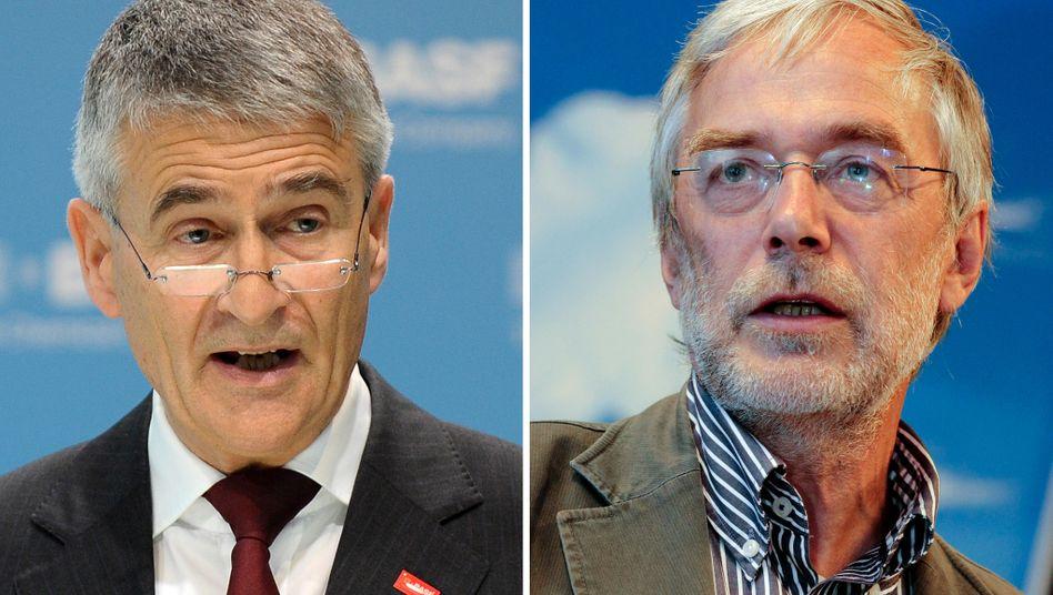 Ex-BASF-Chef Jürgen Hambrecht (links) und Gehirnforscher Gerald Hüther