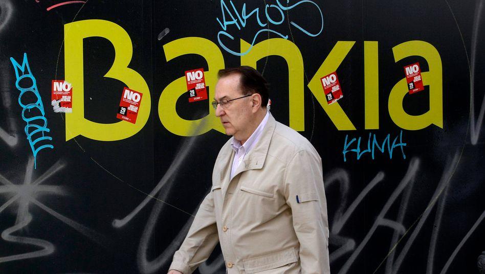 Weniger als nichts wert: Experten schätzen den Unternehmenswert der schwer angeschlagenen spanischen Sparkasse auf minus 4,2 Milliarden Euro.