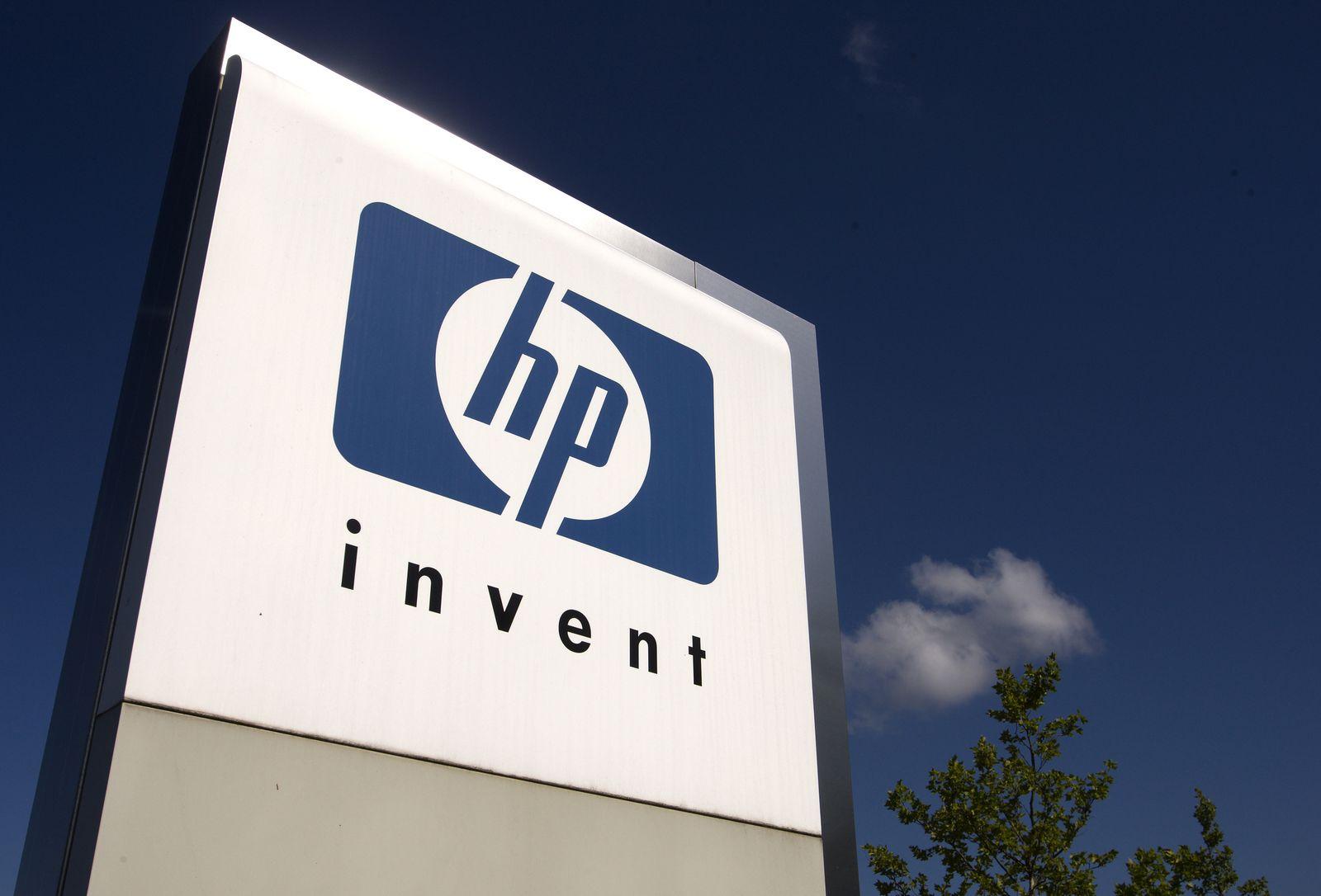 Firmenschild / HP / Hewlett-Packard