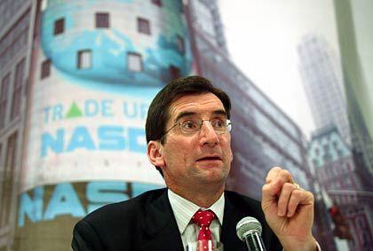 Zweckoptimismus: Nasdaq-Chef Bob Greifeld versucht sein Übernahmeangebot für OMX rhetorisch aufzuhübschen