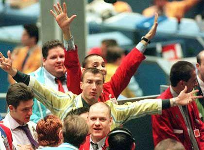 Lukratives Geschäft: Händler an der Londoner Börse