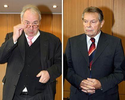 Angeklagt: Gebauer (l.) und Volkert
