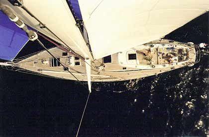 """Erhaben: Blick aus dem Mast der Swan 65 """"Kings Legend"""""""