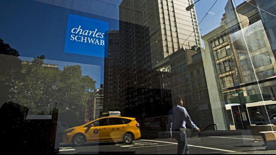 Wall Street-Ikone: Das Brokerhaus Charles Schwab in New York.