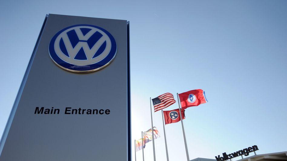 VW-Werk Chattanooga: Der Eingang bleibt Gewerkschaftern der UAW verwehrt
