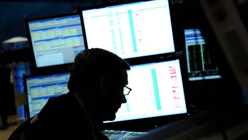Händler an der Börse: Investoren auf der Flucht