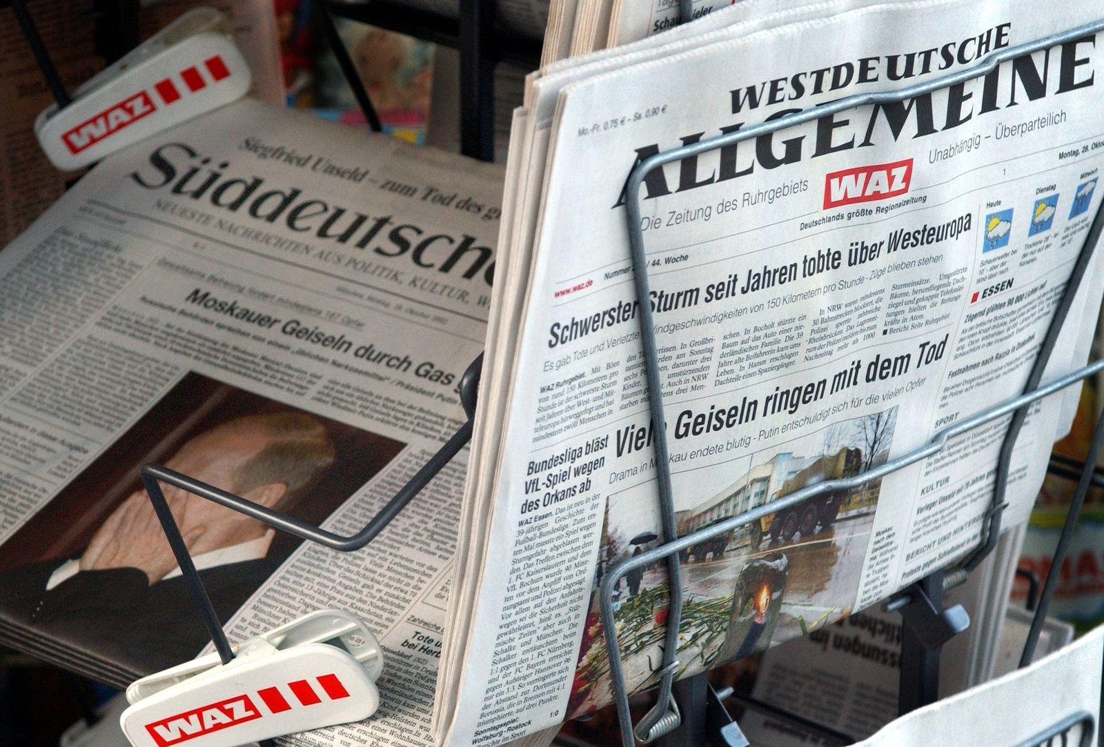 WAZ / Westdeutsche Allgemeine Zeitung / Süddeutsche Zeitung
