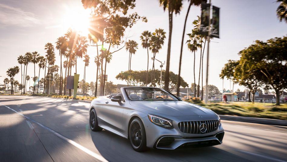 Mercedes AMG S63 Cabrio: Daimlers Pkw-Sparte Mercedes-Benz konnte den Absatz 2017 um 10 Prozent steigern