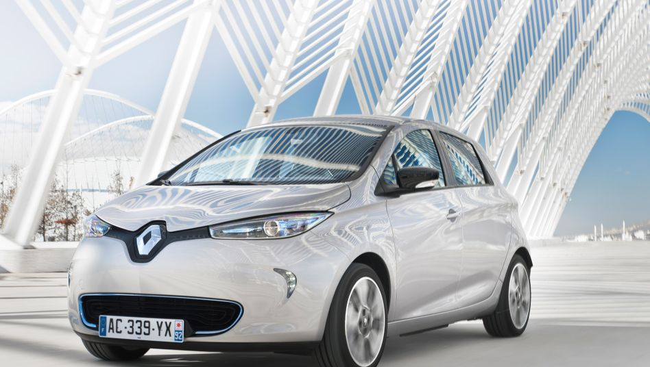 Elektroauto Renault Zoe: Ab April kostet das Auto für Frankreichs Diesel-Umsteiger nur mehr 12.400 Euro - dank einer erweiterten Abwrackprämie