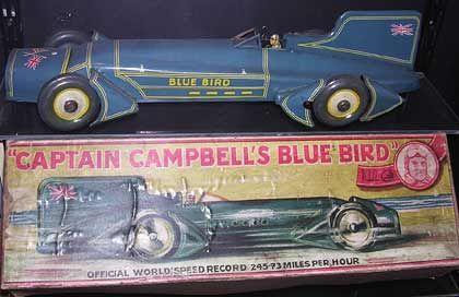 Captain Campbell's Blue Bird: Spielzeugrennwagen Ende der 30er Jahre