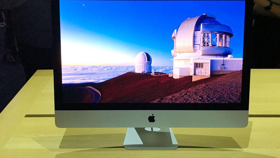 iMac von Apple: Rechner des Konzerns sollen ab 2020 mit eigenen Chips ausgestattet sein