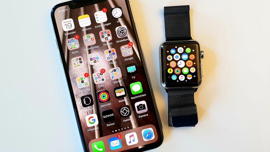 iPhone X und Apple Watch 3