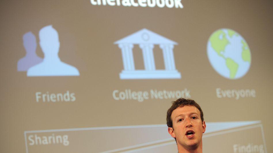 Facebook-Chef Mark Zuckerberg: Teilen nur mit Freunden, gefunden werden von allen?
