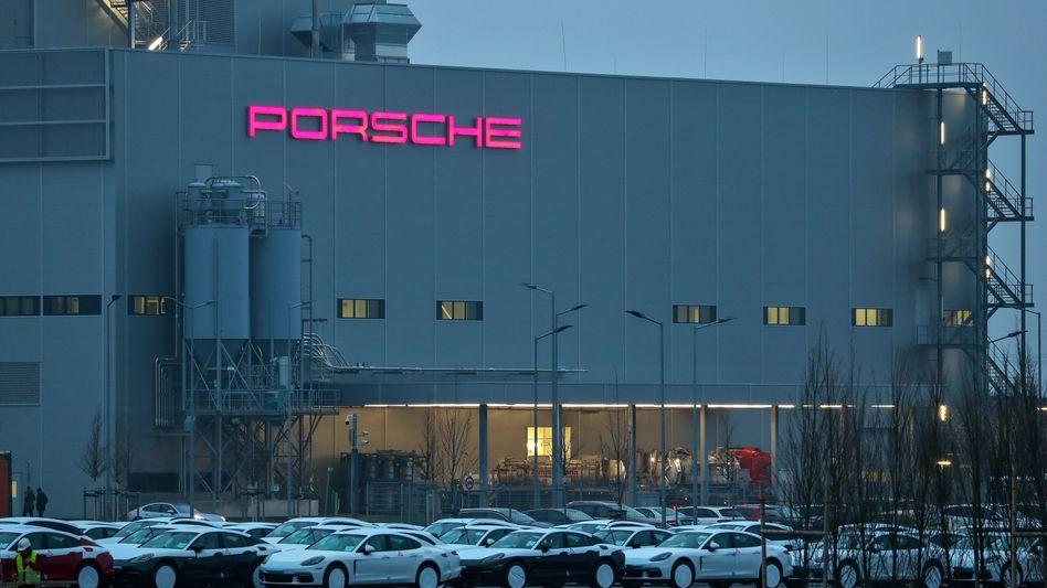 Porsche-Werk in Leipzig: Die Produktion des Panamera und des Macan musste kurzfristig eingestellt werden