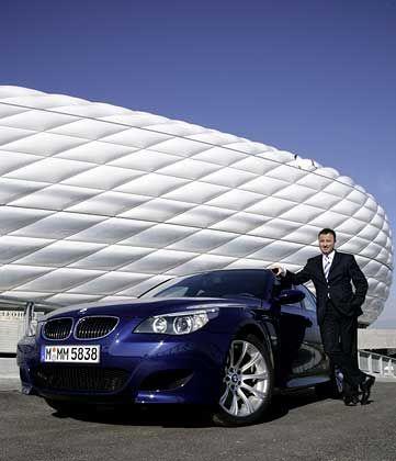 Scharf gemachter Zehnzylinder: Microsofts Deutschland-Statthalter Gallmann mit dem BMW M5