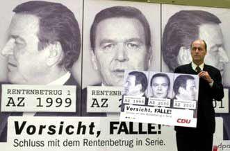 Bronzemedaille: Wahlplakat der CDU