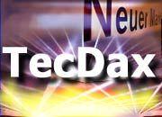 TecDax: Der neue Technologieindex wird 30 Werte umfassen. Hier können auch Werte aus dem MDax und dem Nemax 50 notiert sein. Der Nemax 50 wird noch bis Ende 2004 berechnet.