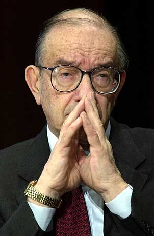 Wachstumsschwäche als vorübergehendes Phänomen charakterisiert: Fed-Chef Alan Greenspan
