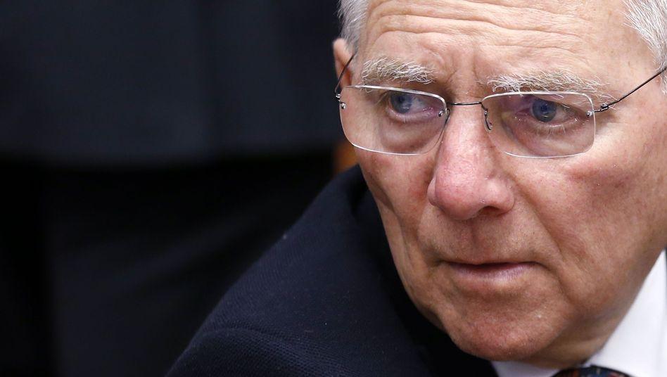 """Finanzminister Schäuble: """"Dann wird eine schwierige Situation entstehen"""""""