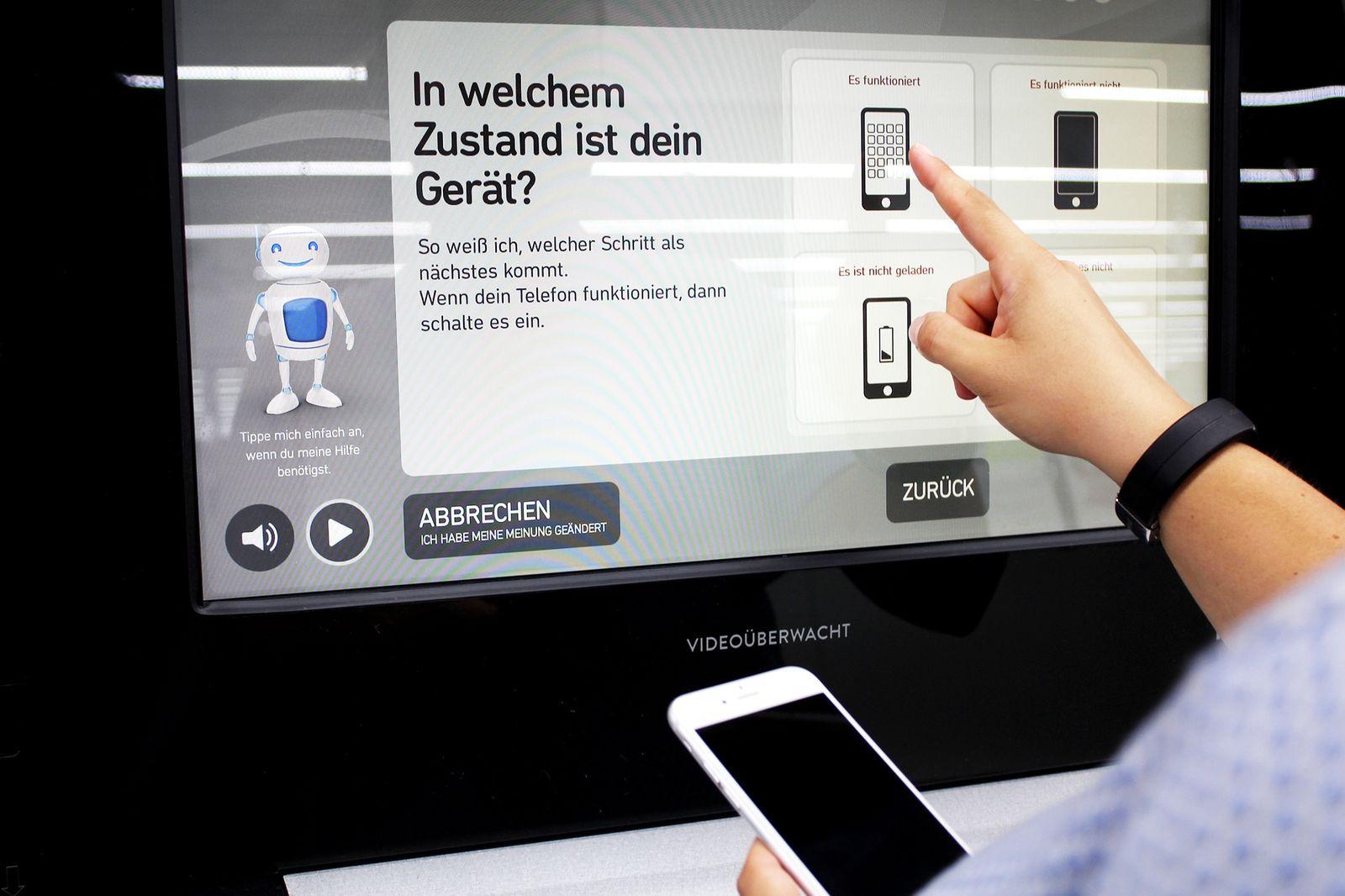 MediaMarkt Automat Mobiltelefone entsorgen