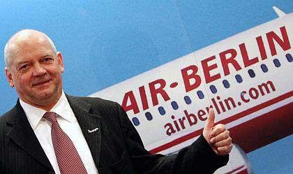"""Air-Berlin-Chef Hunold: """"Ich habe einen Vertrag bis 2011 und denke daran, diesen verlängern zu lassen"""""""
